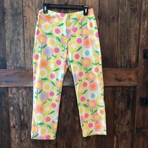 Lilly Pulitzer, 6, Yellow Floral Pants